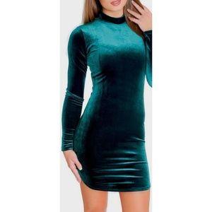 NWT! Charles Henry Velvet Crush Mini Dress